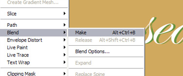 Choose Blend Options
