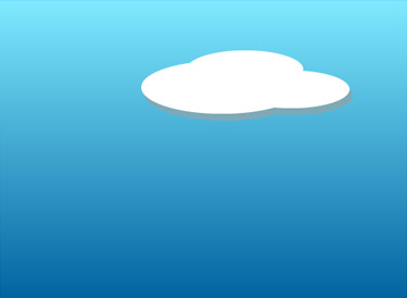 Fill this object with gray colour. Then, PASTE IN FRONT again to place another cloud on top of the grey cloud.
