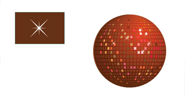 add some sparkles to the disco ball. With the Star Tool
