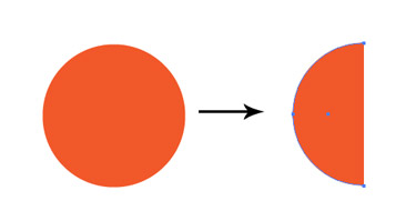 Make a circle. Create a copy of the circle. Using the Direct Selection Tool delete the left anchor point of the circle.