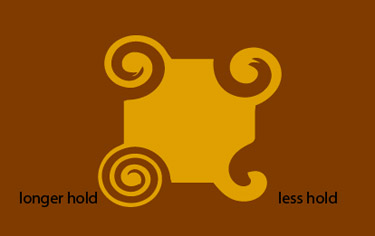 choose the Twirl Tool.  After that, hover over the edge of the circle. Then click and hold. The longer you hold the more the shape will twirl.