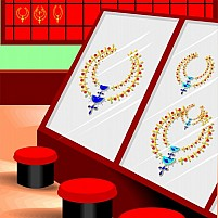 Free Golden Ornaments In Display Illustration