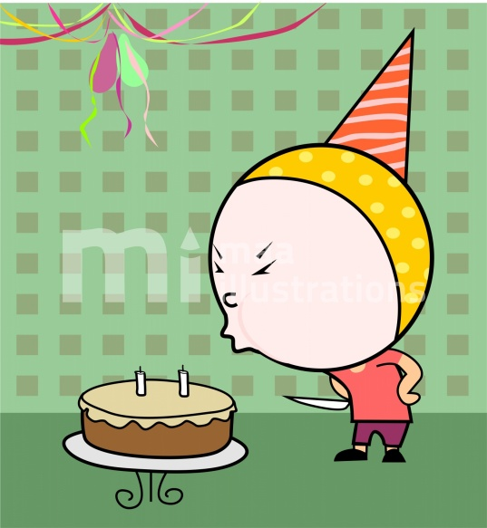 Free Birthday in colour background Illustration