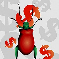 Free Dollar And Insect Illustration