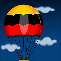 Free parachute in the sky Illustration