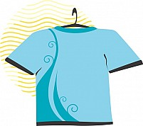 Free  blue coloured T-shirt Illustration