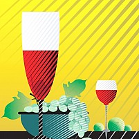 Free Wine and grapes Illustration