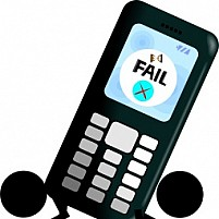 Free Mobile With Failure Signal Illustration