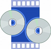 Free CD In Blue Colour Film Background Illustration