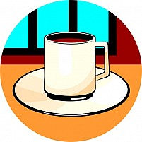 Free Cup Of Tea And Saucer Illustration
