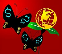 Free Butterfly And A Globe Illustration