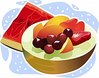 Free eating food with sweet Fruits Illustration