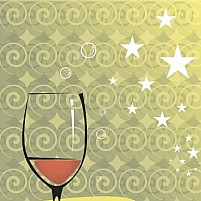 Free wine glass and berries Illustration