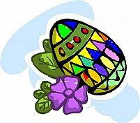 Free Egg with flower Illustration