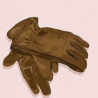 Free pair of gloves made of leather Illustration