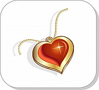 Free Golden chain and love pendant Illustration