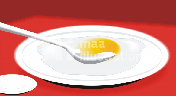 Fried Egg In The Plate