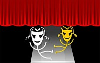 Free stage with mask dancing Illustration