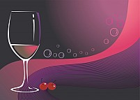 Free Glass and cherry Illustration