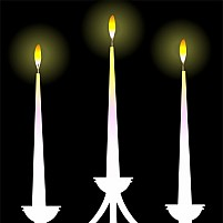Free Candles In Lamp Illustration