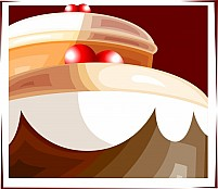 Free Cake With Cherry Illustration