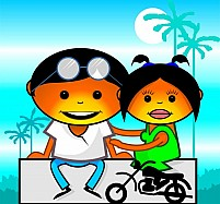 Free Couple Riding In A Motorcycle