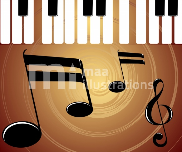 Free Piano And Music Illustration