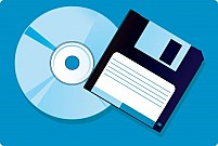 FreeCompact Disc and floppy Illustration
