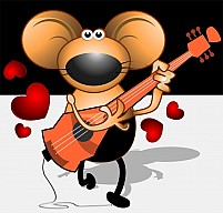 Free Musician Mice With Guitar