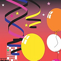 Free balloon and ribbons Illustration