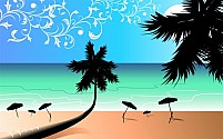 Free Beach Illustration