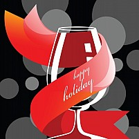 Free Holiday drink glass	Illustration