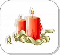 Free Candle and ribbon Illustration