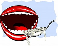 Free Mouth And Noodles Illustration