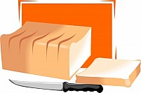 Free Bread With Knife Illustration