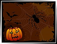Free Halloween And Spider Illustration