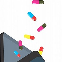 Free Doctor's Suitcase and Capsules Illustration