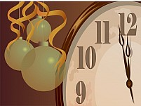 Free Clock and bubbles Illustration