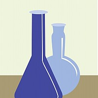 Free Conical flask in laboratory Illustration