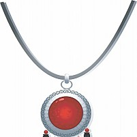 Free necklace with gemstone Illustration