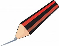 Free arid and black stripe coloured pencil drawing a line Illustration