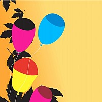 Free Balloons with leafs Illustration