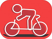 Free Symbol Of Athlete In Cycle Illustration