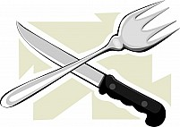 Free knife and spoon Illustration