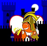 Free Prince And Princess In A Fort Illustration