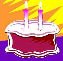 Free Birthday Cake And Candle Illustration