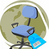 Free Chair With Rate Tag Illustration