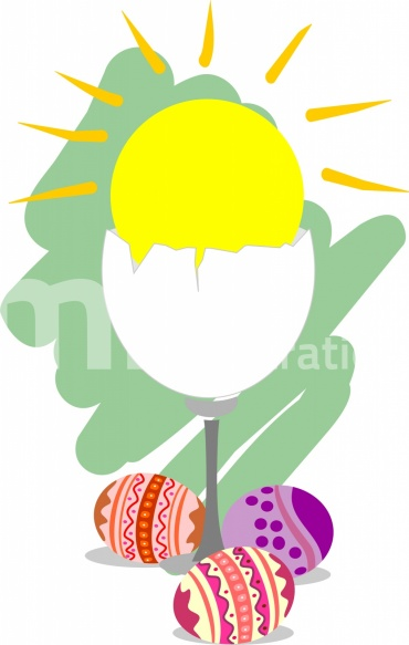 Free Easter Eggs In Colour Background Illustration