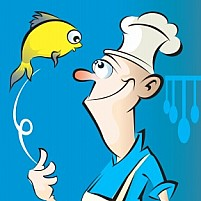 Free Chef and fish