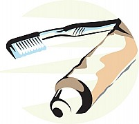 Free Tooth Brush and Tooth Paste Illustration